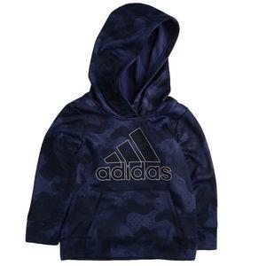 🆕 NWT adidas blue camouflage logo hoodie